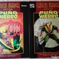 Tebeos: CLÁSICOS MARVEL EN BLANCO Y NEGRO - PUÑO DE HIERRO - 2 TOMOS COMPLETA - FORUM. Lote 165791542
