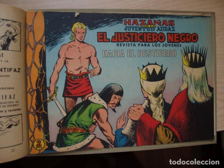 Tebeos: EL JUSTICIERO NEGRO - COLECCION COMPLETA - .24 NÚMEROS - VALENCIANA - Foto 5 - 168296604