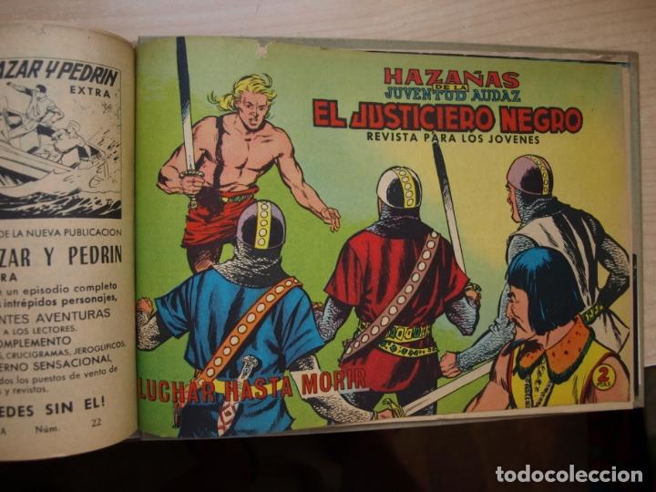 Tebeos: EL JUSTICIERO NEGRO - COLECCION COMPLETA - .24 NÚMEROS - VALENCIANA - Foto 6 - 168296604