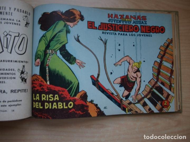 Tebeos: EL JUSTICIERO NEGRO - COLECCION COMPLETA - .24 NÚMEROS - VALENCIANA - Foto 14 - 168296604