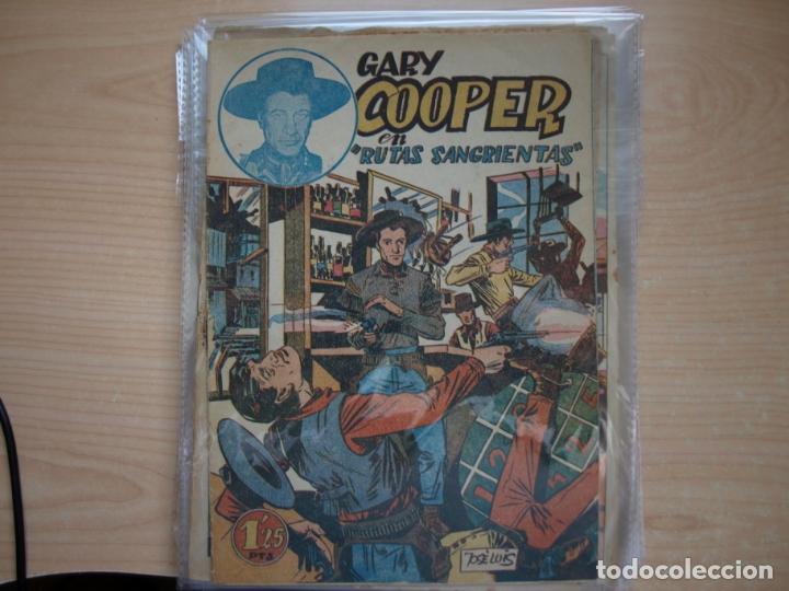 Tebeos: GARY COOPER - COLECCION COMPLETA - 14 NÚMEROS - EDICIONES JOVI - Foto 2 - 168297192