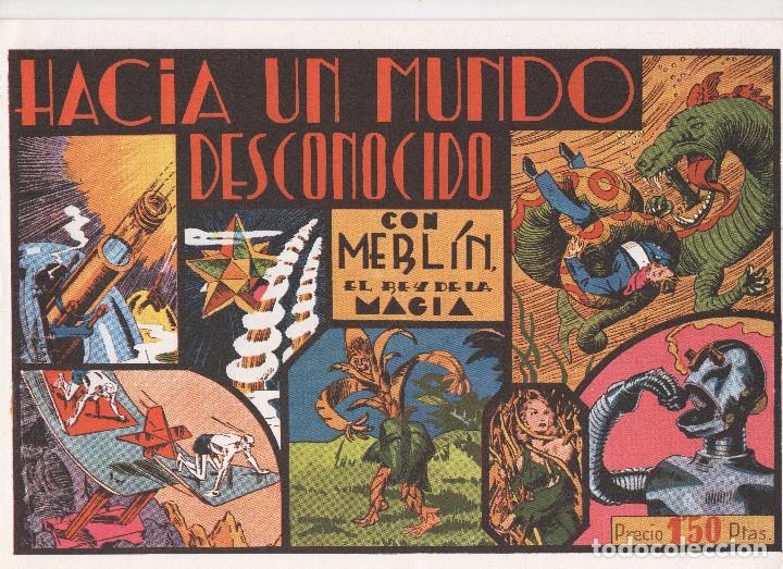 Tebeos: MERLIN publicado por Hispano Americana de Ediciones a partir de 1.942 - Foto 3 - 168433668