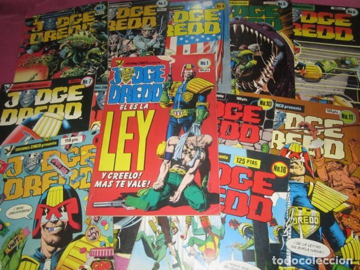 JUDGE DREDD IN COMPLETA A FALTA DE 5 NUMEROS ZINCO (Tebeos y Comics - Tebeos Colecciones y Lotes Avanzados)