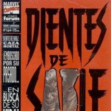 Tebeos: DIENTES DE SABLE. CAZA MORTAL. FORUM 1994. COLECCIÓN COMPLETA (4 EJEMPLARES). Lote 169369482