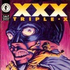 Tebeos: XXX. TRIPLE X. WORLD COMICS 1995. DARK HORSE. COLECCIÓN COMPLETA (7 EJEMPLARES). Lote 169369486