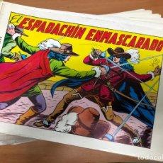 Tebeos: COLECCION COMPLETA EL ESPADACHIN ENMASCARADO 2ª EDICION 84 EJEMPLARES EN BUEN ESTADO. Lote 31186176