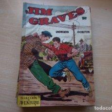 Tebeos: JIM GRAVES - COLECCION COMPLETA - 33 NÚMEROS - ORIGINAL - TORAY - VER FOTOS DE TODAS LAS PORTADAS. Lote 169928132