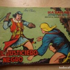 Tebeos: EL JUSTICIERO NEGRO - COLECCION COMPLETA - 24 NÚMEROS - ORIGINAL - VALENCIANA. Lote 170372944