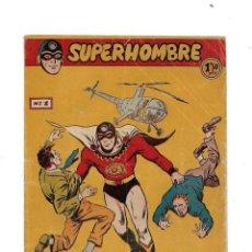 Tebeos: SUPERHOMBRE AÑO 1958 COLECCIÓN COMPLETA SON 68 TEBEOS ORIGINALES QUE SON MUY DIFICILES DE CONSEGUIR. Lote 171158105
