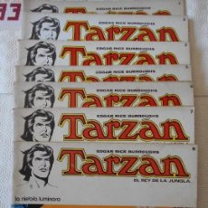 Tebeos: TARZAN. EL REY DE LA JUNGLA. EDGAR RICE BURROUGHS. EDITORIAL NOVARO AÑOS 70. LOTE DE 7 COMICS. DEL 1. Lote 171225529