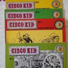 Tebeos: CISCO KID. LOTE DE 4 COMICS. NUMEROS 1, 4, 5 Y 6. EDICIONES ESEUVE. ART COMICS. HEROES DE SIEMPRE. A. Lote 171225728