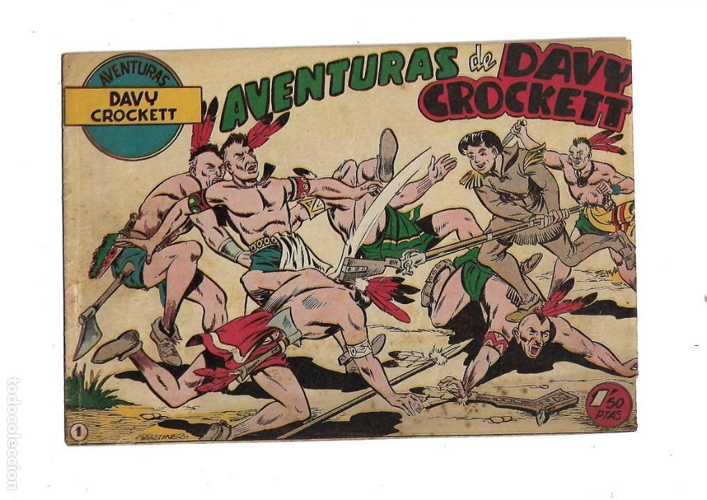 Tebeos: Aventuras Davy Crockett, Año 1958. Colección Completa son 31 Tebeos Originales el Nº 26 nunca visto - Foto 3 - 171299485