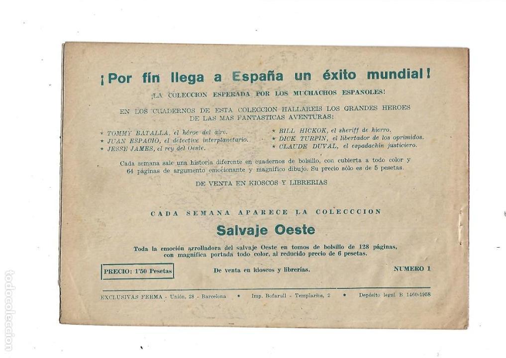 Tebeos: Aventuras Davy Crockett, Año 1958. Colección Completa son 31 Tebeos Originales el Nº 26 nunca visto - Foto 4 - 171299485