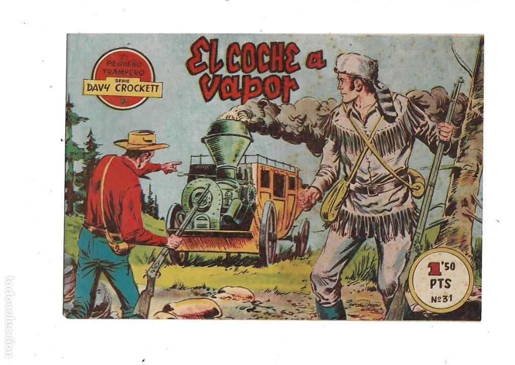 Tebeos: Aventuras Davy Crockett, Año 1958. Colección Completa son 31 Tebeos Originales el Nº 26 nunca visto - Foto 19 - 171299485