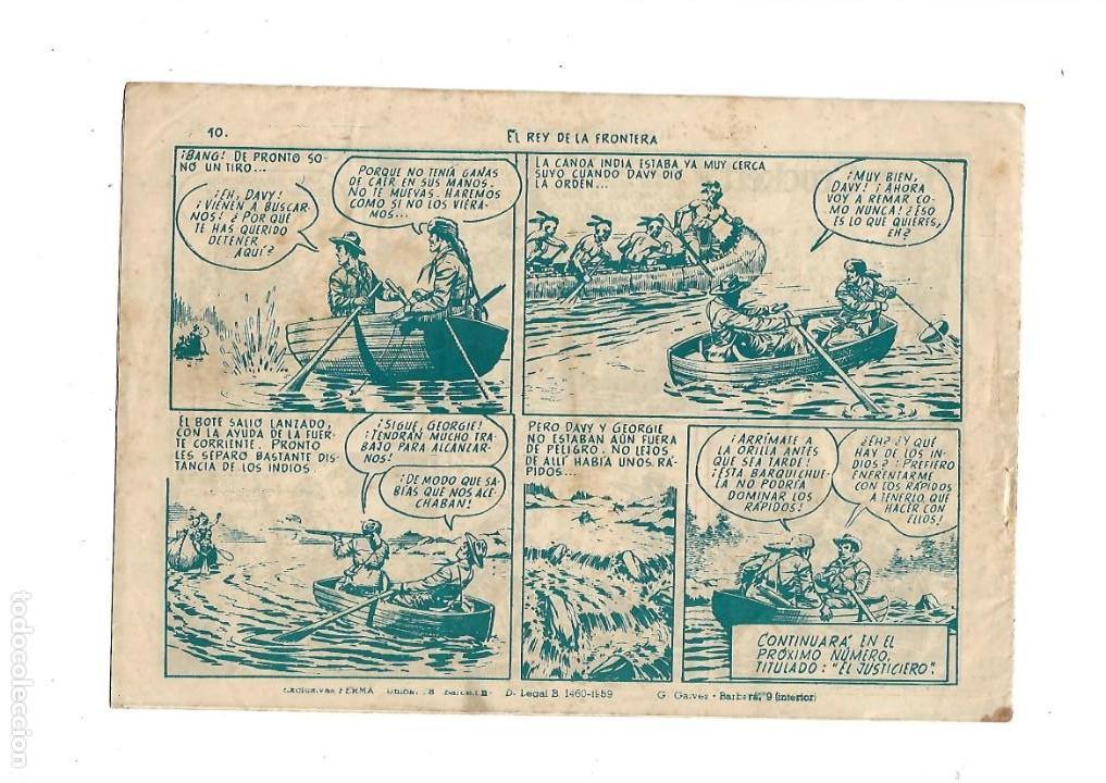 Tebeos: Aventuras Davy Crockett, Año 1958. Colección Completa son 31 Tebeos Originales el Nº 26 nunca visto - Foto 14 - 171299485