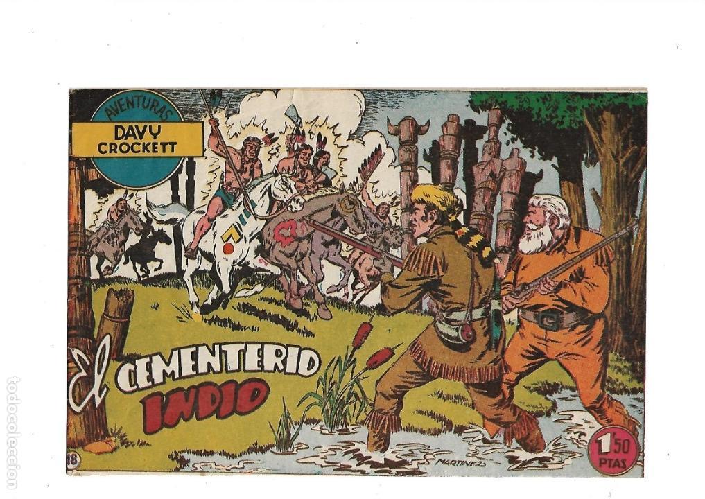 Tebeos: Aventuras Davy Crockett, Año 1958. Colección Completa son 31 Tebeos Originales el Nº 26 nunca visto - Foto 7 - 171299485