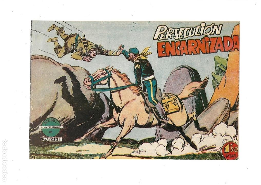 Tebeos: Aventuras Davy Crockett, Año 1958. Colección Completa son 31 Tebeos Originales el Nº 26 nunca visto - Foto 11 - 171299485