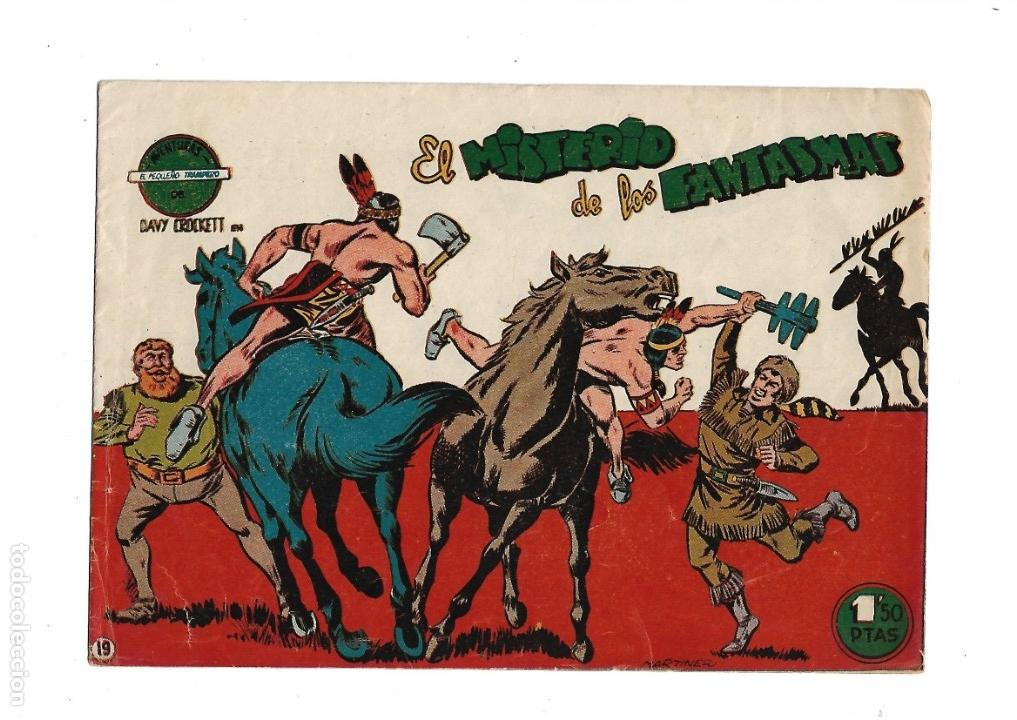 Tebeos: Aventuras Davy Crockett, Año 1958. Colección Completa son 31 Tebeos Originales el Nº 26 nunca visto - Foto 9 - 171299485
