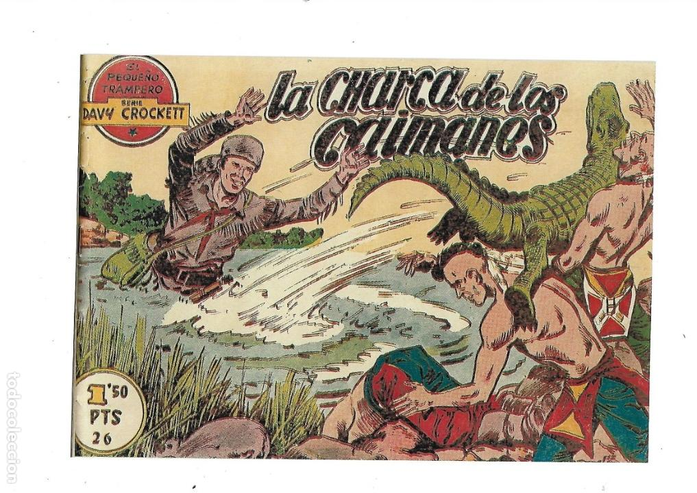 Tebeos: Aventuras Davy Crockett, Año 1958. Colección Completa son 31 Tebeos Originales el Nº 26 nunca visto - Foto 17 - 171299485