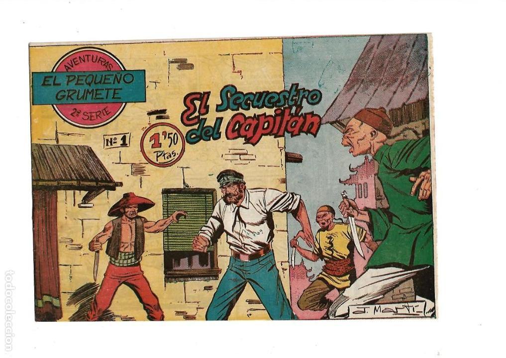 Tebeos: El Pequeño Grumete 1ª y 2ª Serie son 2 Colecciones Completas son 50 Tebeos Originales muy dificiles - Foto 7 - 171436338