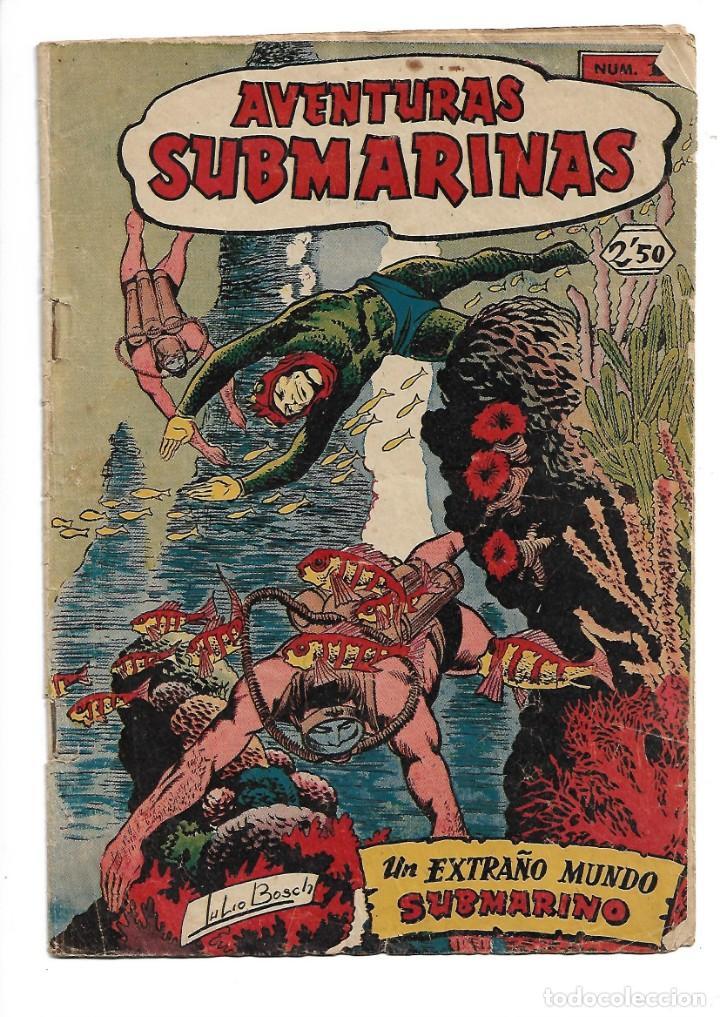 AVENTURAS SUBMARINAS AÑO 1956 COLECCIÓN COMPLETA SON 4. TEBEOS ORIGINALES Y SON DIFICILES (Tebeos y Comics - Tebeos Colecciones y Lotes Avanzados)