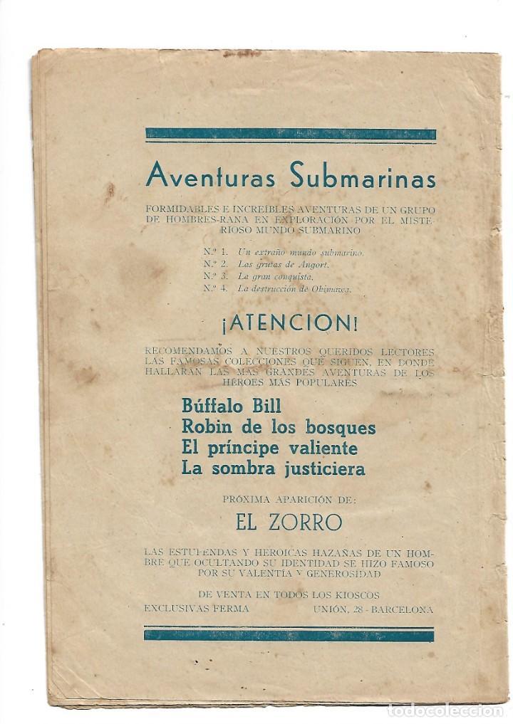 Tebeos: Aventuras Submarinas Año 1956 Colección Completa son 4. Tebeos Originales y son dificiles - Foto 2 - 171448397