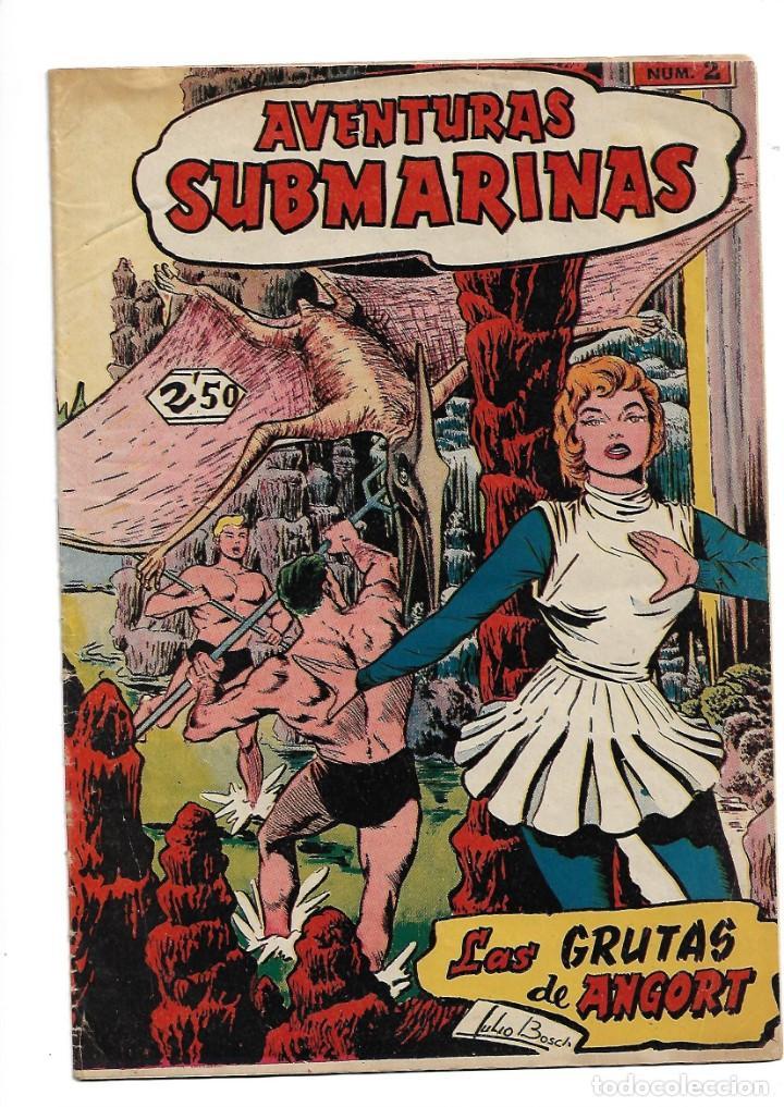 Tebeos: Aventuras Submarinas Año 1956 Colección Completa son 4. Tebeos Originales y son dificiles - Foto 3 - 171448397
