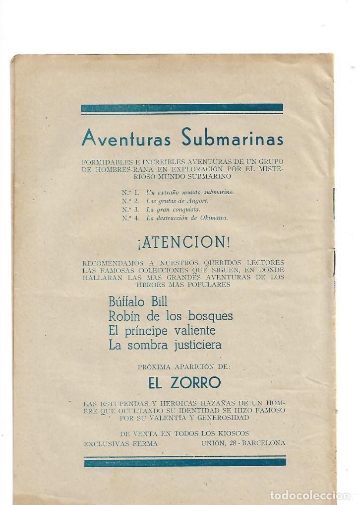 Tebeos: Aventuras Submarinas Año 1956 Colección Completa son 4. Tebeos Originales y son dificiles - Foto 4 - 171448397