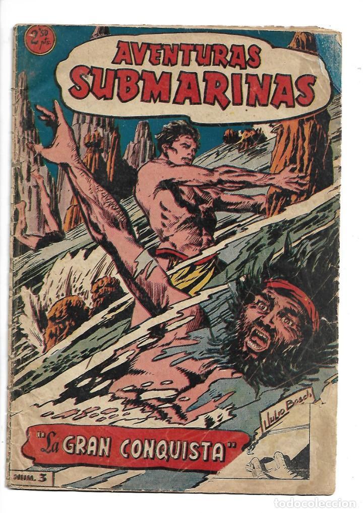 Tebeos: Aventuras Submarinas Año 1956 Colección Completa son 4. Tebeos Originales y son dificiles - Foto 5 - 171448397