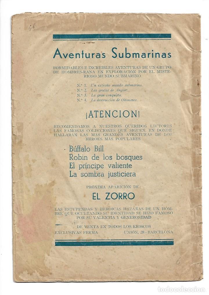 Tebeos: Aventuras Submarinas Año 1956 Colección Completa son 4. Tebeos Originales y son dificiles - Foto 6 - 171448397