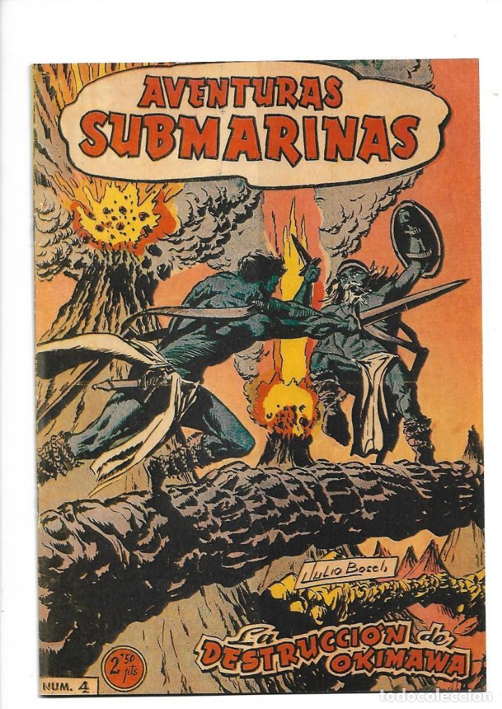 Tebeos: Aventuras Submarinas Año 1956 Colección Completa son 4. Tebeos Originales y son dificiles - Foto 7 - 171448397