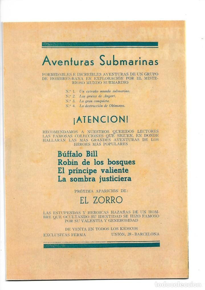 Tebeos: Aventuras Submarinas Año 1956 Colección Completa son 4. Tebeos Originales y son dificiles - Foto 8 - 171448397