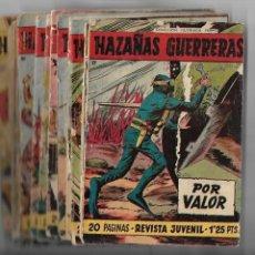 Tebeos: HAZAÑAS GUERRERAS AÑO 1958 DE 17 X 12. CMS. LOTE DE 14 TEBEOS SON ORIGINALES DEL Nº 1 AL Nº 21.. Lote 171651083