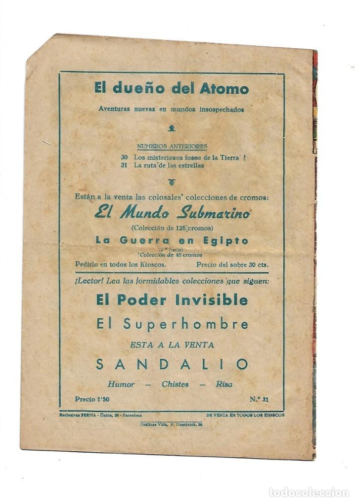 Tebeos: El Dueño del Átomo, Año 1.956. Lote de 30 Tebeos son Originales Dibujos de J. Marti, editorial ferma - Foto 2 - 110127911
