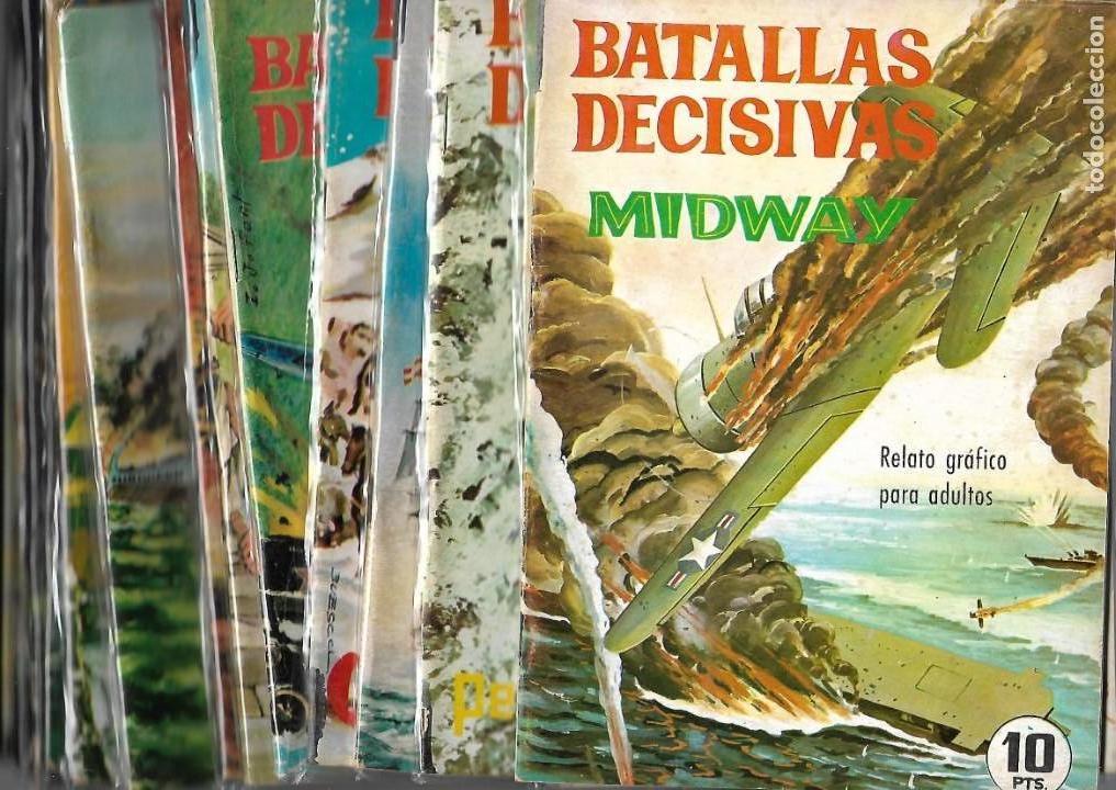 BATALLAS DECISIVAS AÑO 1964 DE 20 X 15 COLECCIÓN COMPLETA SON 20 TEBEOS ORIGINALES NUEVOS (Tebeos y Comics - Tebeos Colecciones y Lotes Avanzados)