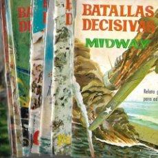 Tebeos: BATALLAS DECISIVAS AÑO 1964 DE 20 X 15 COLECCIÓN COMPLETA SON 20 TEBEOS ORIGINALES NUEVOS. Lote 172056782