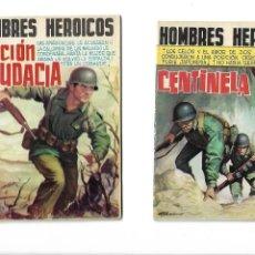 Tebeos: HOMBRES HEROICOS COLOR AÑO 1962 DE 17 X 12 COLECCIÓN COMPLETA SON 8. TEBEOS ORIGINALES NUNCA VISTOS. Lote 172066597