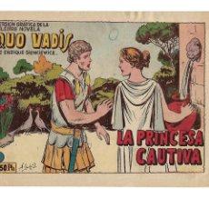 Tebeos: QUO - VADIS AÑO 1954 COLECCIÓN COMPLETA SON 20 TEBEOS ORIGINALES SUELTOS NUEVOS MUY DIFICILES DE VER. Lote 176048747