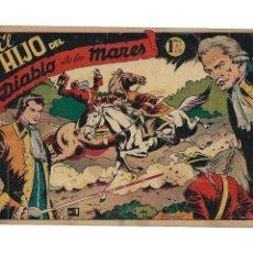 Tebeos: EL HIJO DEL DIABLO DE LOS MARES AÑO 1949 COLECCIÓN COMPLETA SON 22 TEBEOS ORIGINALES DIBUJOS BOIXCAR. Lote 176058122