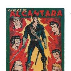 Tebeos: CARLOS DE ALCANTARA AÑO 1955 COLECCIÓN COMPLETA SON 37 TEBEOS ORIGINALES NUEVOS + ALMANAQUE PARA1956. Lote 176064182