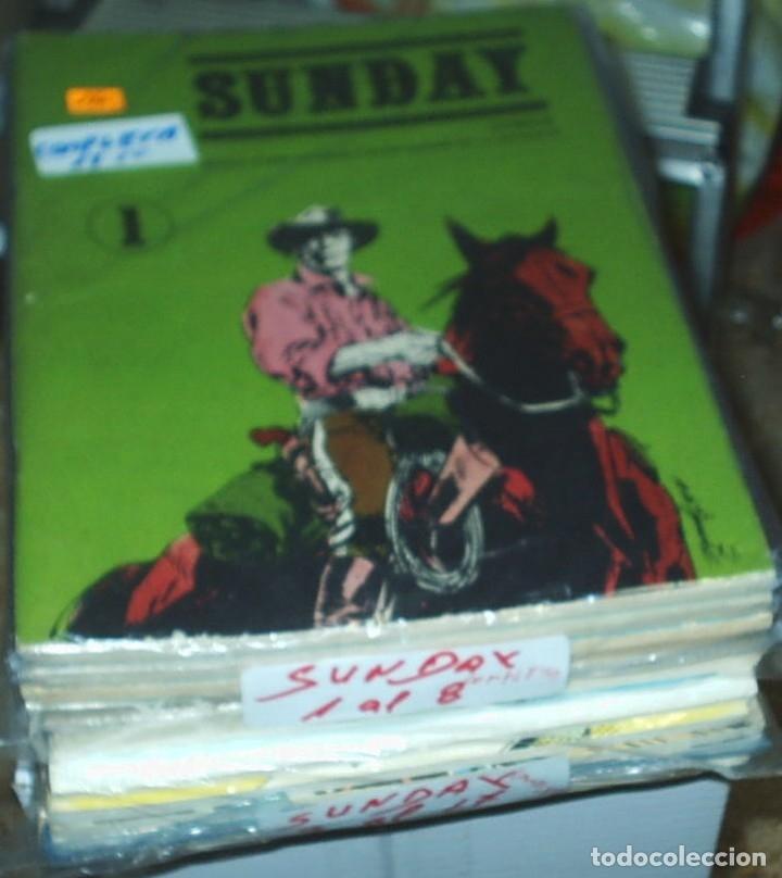 Tebeos: SUNDAY -MARIANO AYUSO 1976 - COMPLETA, 17 números en 15 cuadernos ORIGINAL IMPORTANTE LEER TODO - Foto 3 - 177258418