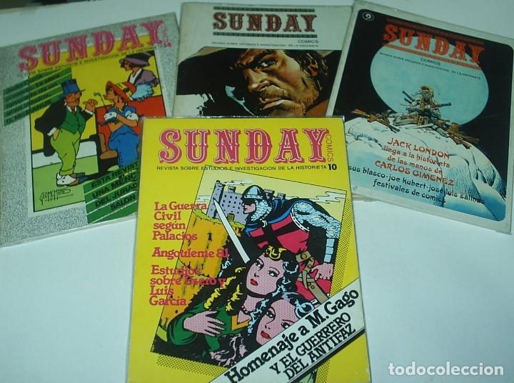 SUNDAY -MARIANO AYUSO 1976 - COMPLETA, 17 NÚMEROS EN 15 CUADERNOS ORIGINAL IMPORTANTE LEER TODO (Tebeos y Comics - Tebeos Colecciones y Lotes Avanzados)