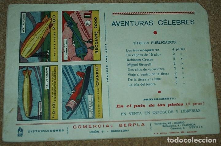Tebeos: DE LA TIERRA A LA LUNA COMPLETA EN SUS 2 PARTES ORIGINALES, CISNE 1942, MUY BIEN CON SUSCROMOS - Foto 2 - 177265267