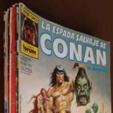 Tebeos: 7 COMICS DE LA ESPADA SALVAJE DE CONAN + REGALO DE UN Nº ORIGINAL AMERICANO -VER FOTOS. Lote 177336697