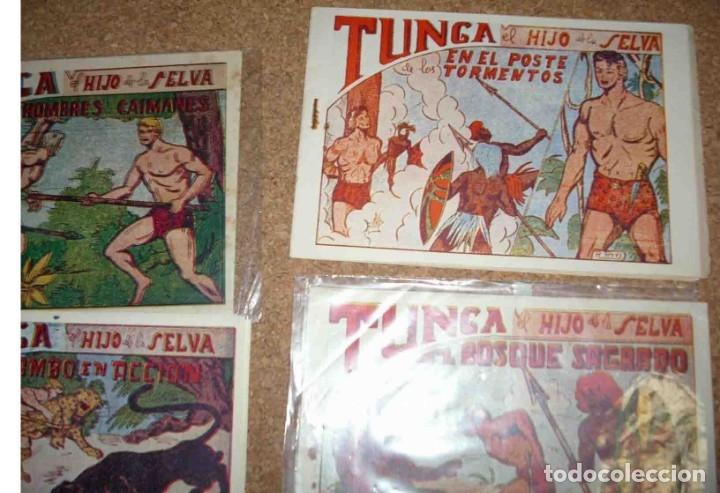 Tebeos: TUNGA HIJO DE LA SELVA LOTE DE 7 TEBEOS 1ª EDICIÓN BELTRÁN 1957 ORIGINALES PERFECTOS - Foto 2 - 177567732
