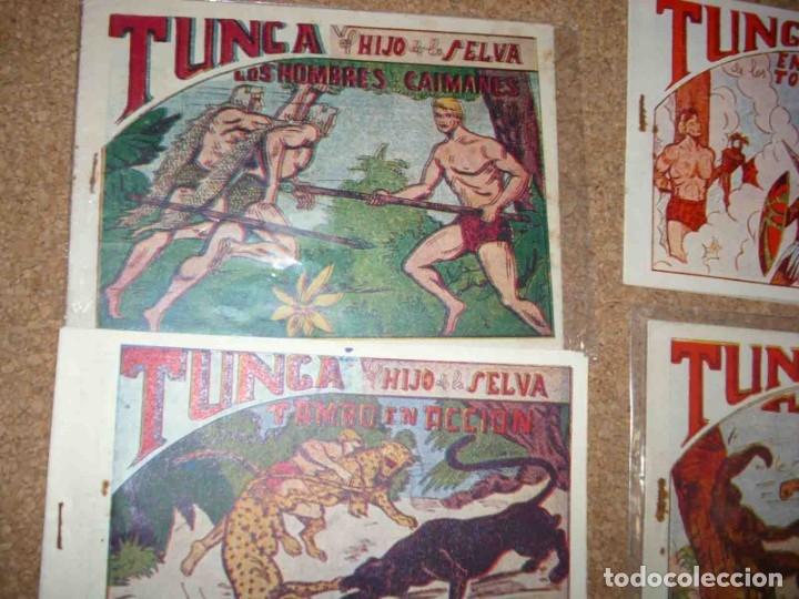 Tebeos: TUNGA HIJO DE LA SELVA LOTE DE 7 TEBEOS 1ª EDICIÓN BELTRÁN 1957 ORIGINALES PERFECTOS - Foto 3 - 177567732