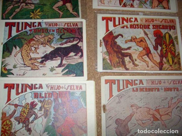 Tebeos: TUNGA HIJO DE LA SELVA LOTE DE 7 TEBEOS 1ª EDICIÓN BELTRÁN 1957 ORIGINALES PERFECTOS - Foto 4 - 177567732