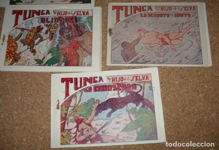 Tebeos: TUNGA HIJO DE LA SELVA LOTE DE 7 TEBEOS 1ª EDICIÓN BELTRÁN 1957 ORIGINALES PERFECTOS - Foto 5 - 177567732
