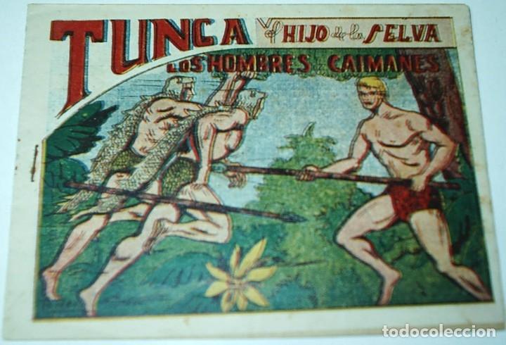 Tebeos: TUNGA HIJO DE LA SELVA LOTE DE 7 TEBEOS 1ª EDICIÓN BELTRÁN 1957 ORIGINALES PERFECTOS - Foto 6 - 177567732