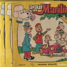 Tebeos: AQUI MARILIN-LOTE CON LOS Nº 1 AL 8- TODOS CON EL TEBEO CENTRAL DE MARISOL- LEER DESCRIP. Lote 177612725